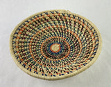 Multi Colored Grass-woven Basket