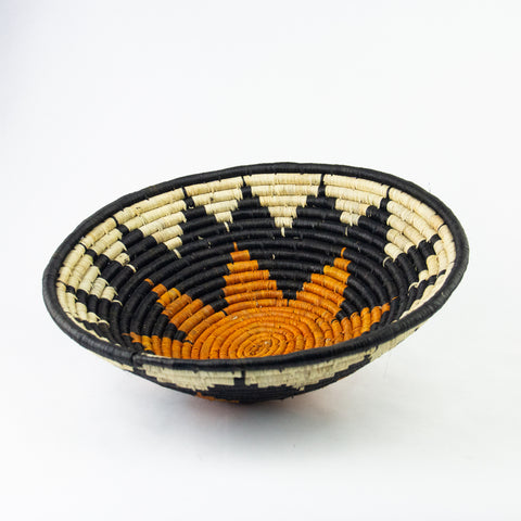 Black & Orange Grass-woven Basket