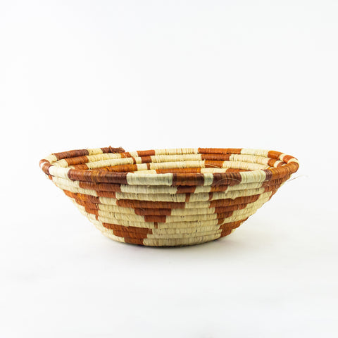 Burnt Orange Triangle Grass-woven Basket