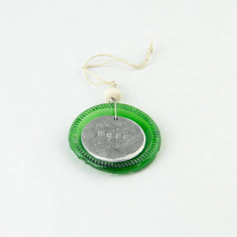 Recycled Glass Hope Ornament