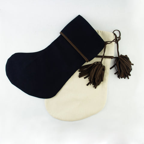 Leather Tassel Stocking