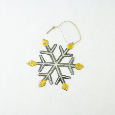 Snowflake Oil Drum Ornament