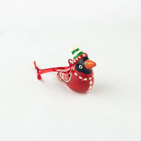 Mini Cardinal Whistle Ornament
