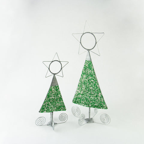 Beaded Wire Trees