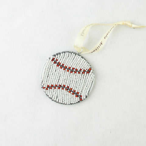 Beaded Baseball Ornament
