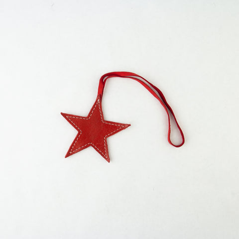 Leather Star Ornament