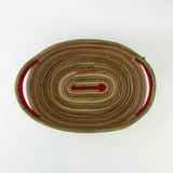Christmas Oval Pine Needle Basket