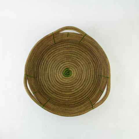 Olive Triangle Pine Needle Basket