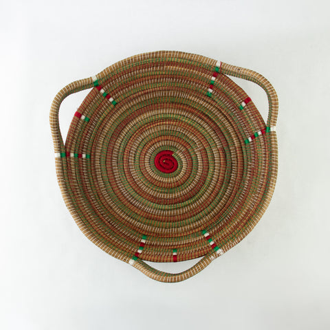 Christmas Triangle Pine Needle Basket