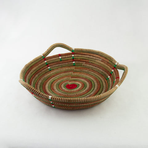 Christmas Circle Pine Needle Basket