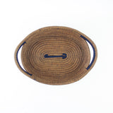Navy Oval Pine Needle Basket