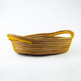 Gold Oval Pine Needle Basket