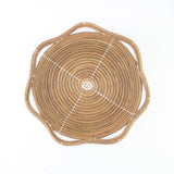 Ivory Circle Pine Needle Basket