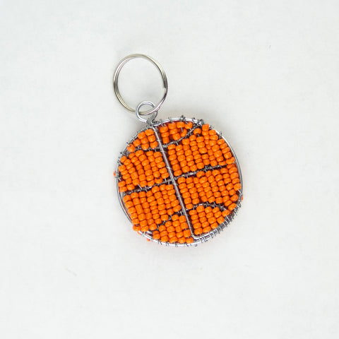Beaded Basketball Keychain
