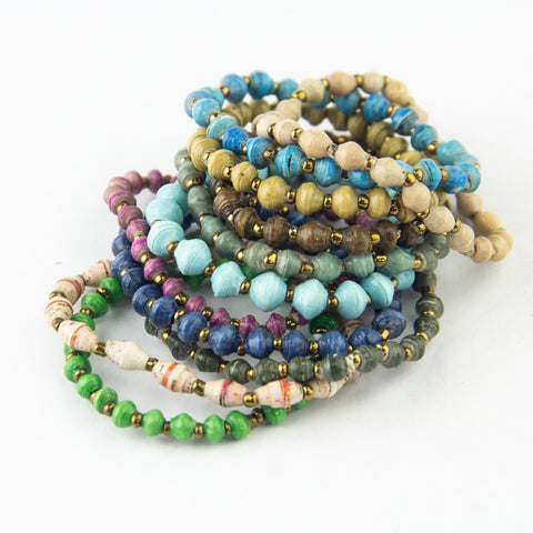 Mini Magazine Bead Bracelet