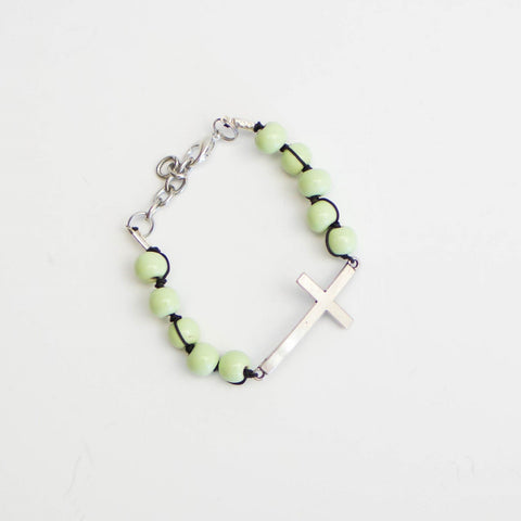 Thin Cross Bracelet