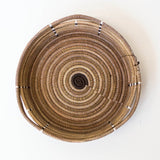 Brown Triangle Pine Needle Basket