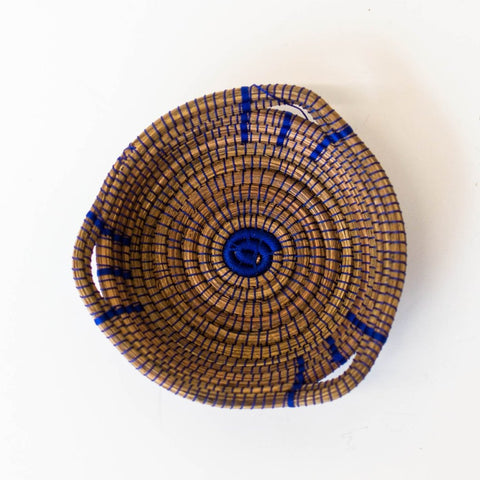Blue Mini Pine Needle Basket