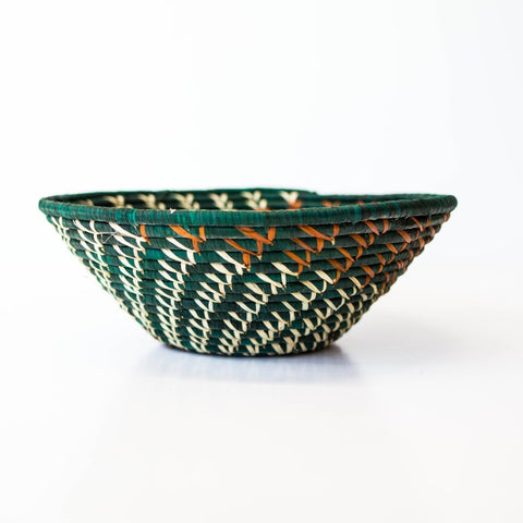 Green/Orange Vine Grass-woven Basket
