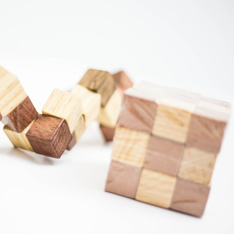 Wood Cube Puzzle