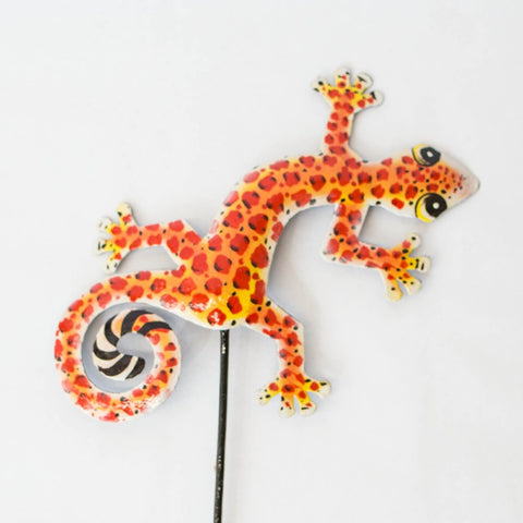 Painted Gecko Garden Ornament