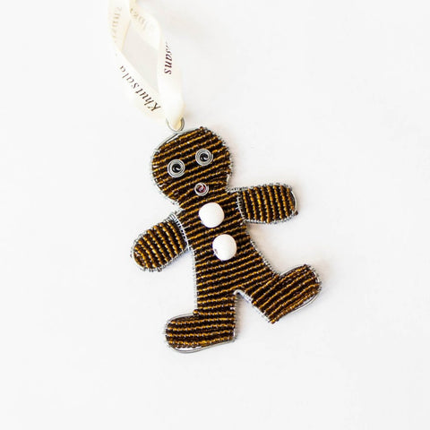 Beaded Gingerbread Man Ornament