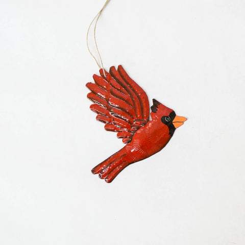 Cardinal Oil Drum Ornament