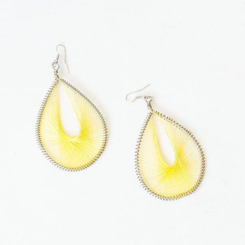Thread Teardrop Earrings