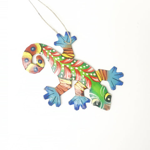 Oil Drum Gecko Ornament