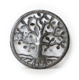 "12"" Oil Drum Tree of Life made by artisans in Haiti"
