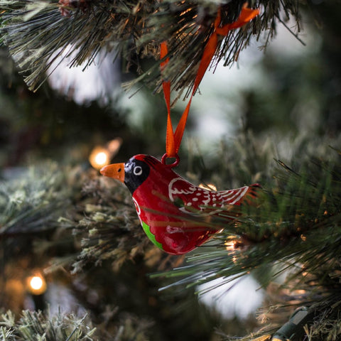 Mini Bird Whistle Ornament