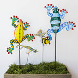 Painted Frog Garden Ornament