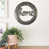 Home Metal Art Wreath