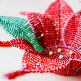 Beaded Poinsettia Bowl