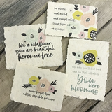 Wildflower Banana Paper Magnet Set