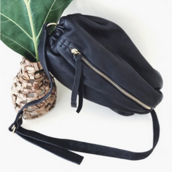 Leather Scrunchie Bag