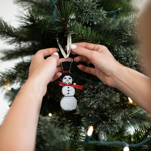 Beaded Snowman Ornament