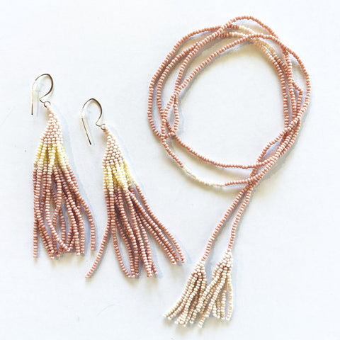 Beaded Tassel Jewelry Set