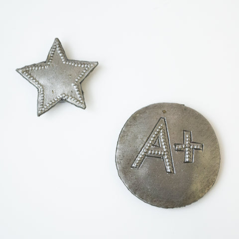 Metal Button Magnets - School