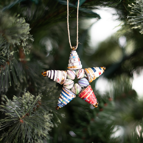 Colorful Paper Star Ornament