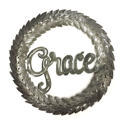 Grace Metal Art Wreath