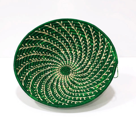 Fern Green Grass-woven Basket