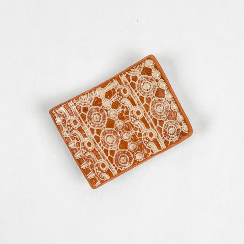 Lace Print Soap Dish / Catch All