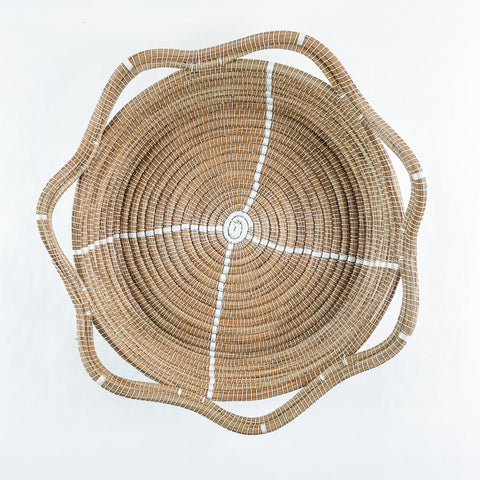 White Circle Pine Needle Basket