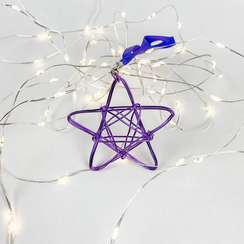Knotted Wire Star Ornament