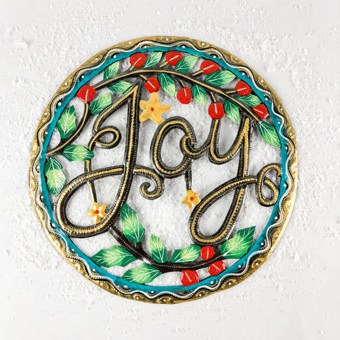 Painted Joy Christmas Wreath