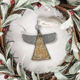 Gold Beaded Angel Ornament