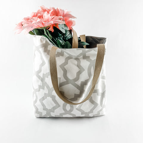 Steel Gray Cloth Tote