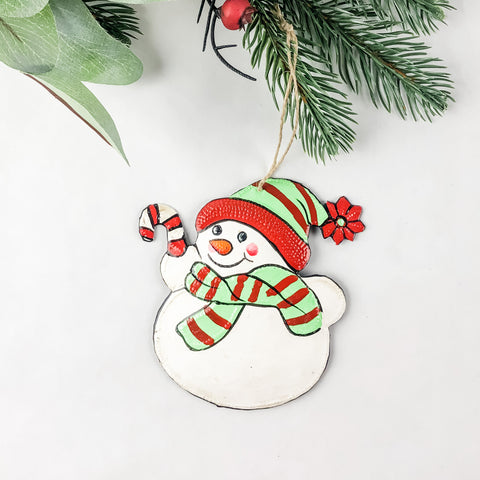 Painted Snowman Ornament