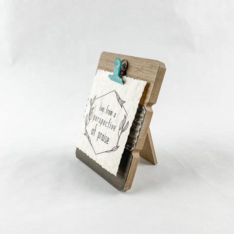 Perspective of Praise Banana Paper Clipboard Set